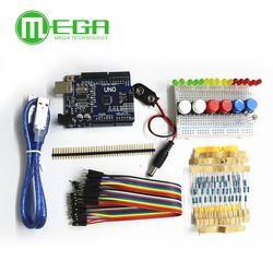 1set new Starter Kit UNO R3 mini Breadboard LED jumper wire button for Arduino compatile
