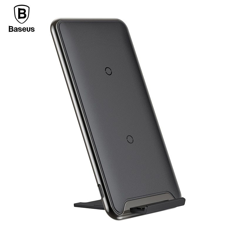 Baseus 10W Three Coils QI Wireless Charger For iPhone X 8 Samsung S9 S8 Plus Fast Wireless Charging Pad Docking Dock Station