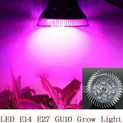 Полный спектр светодиодный светать 18 W E14/E27/GU10 лампочка для прожектора цветочных растений парниковый эффект; Выращивание растений без почвы...