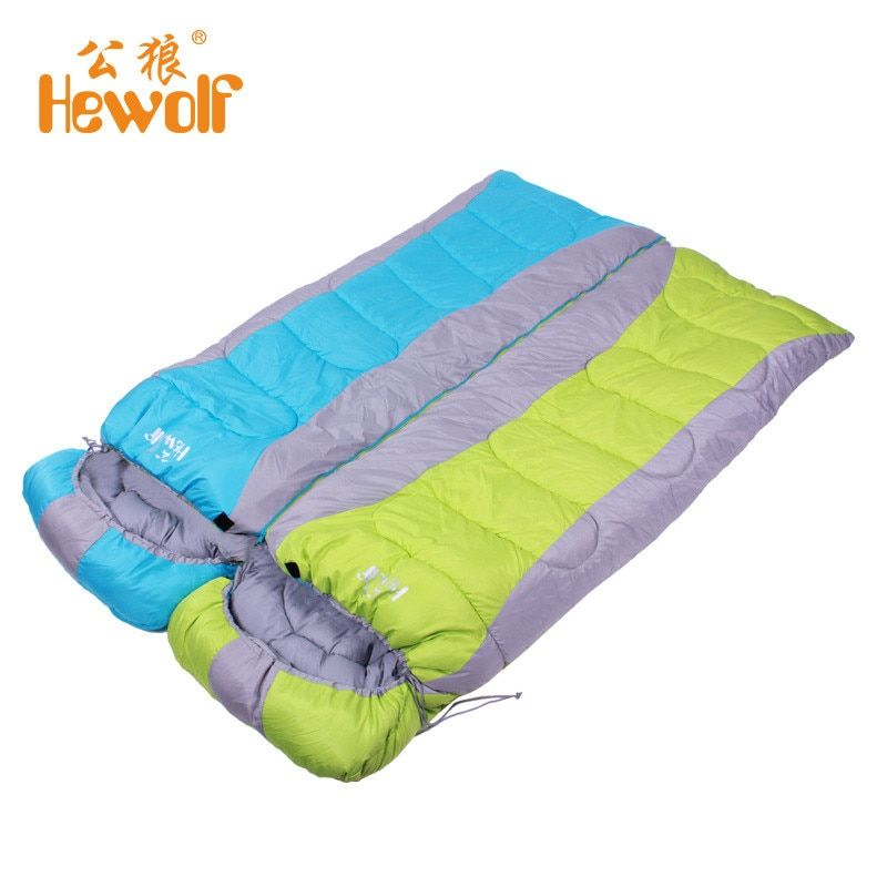 Adult Thickened Rectangular Couples Camping Indoor Siesta Spring And Winter Light Checked Cloth Sleeping Bag Shipping From RU