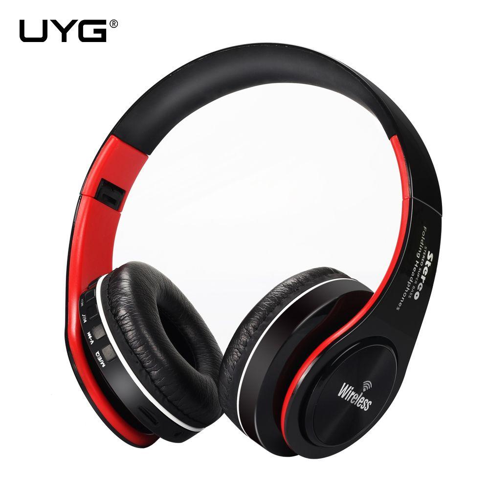 UYG bluetooth casque sans fil casque stéréo casque mains libres réponse avec Microphone TF carte mp3 FM Radio pour smartphone
