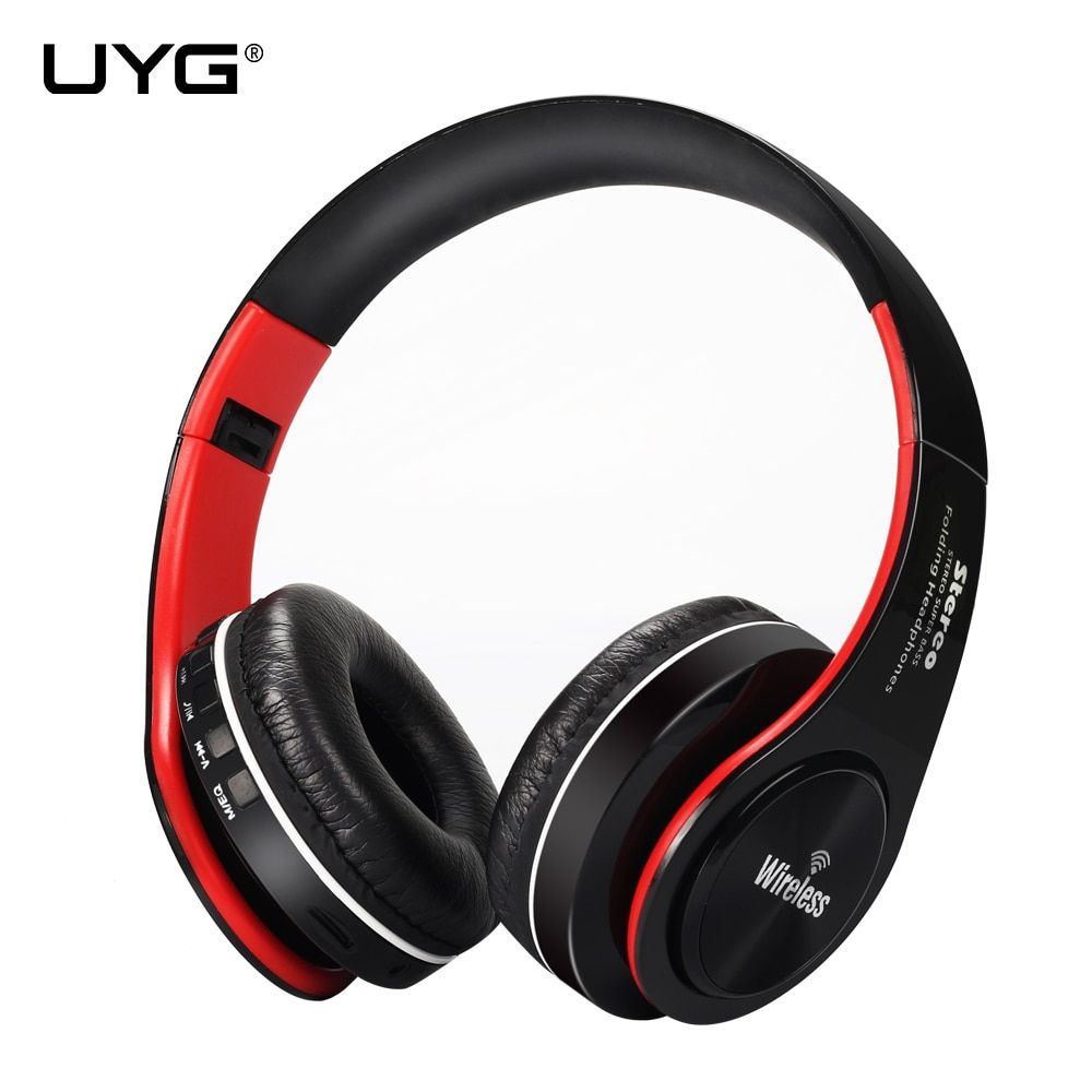 UYG bluetooth headphone wireless headphones stereo headset <font><b>handsfree</b></font> answer with Microphone TF Card mp3 FM Radio for smartphone