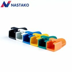 NASTAKO 50/100PCS Colorful Cat6 RJ45 Connector Caps Cat6A Plugs Boots Network Ethernet Cable Dust Cap RJ45 Connector Covers