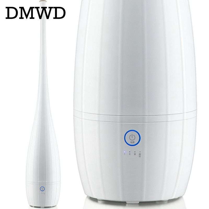 DMWD 220V 25W 4L Aroma Essential Oil Diffuser Ultrasonic Air Humidifier for Office/bedroom Mute Zero radiation Floor type
