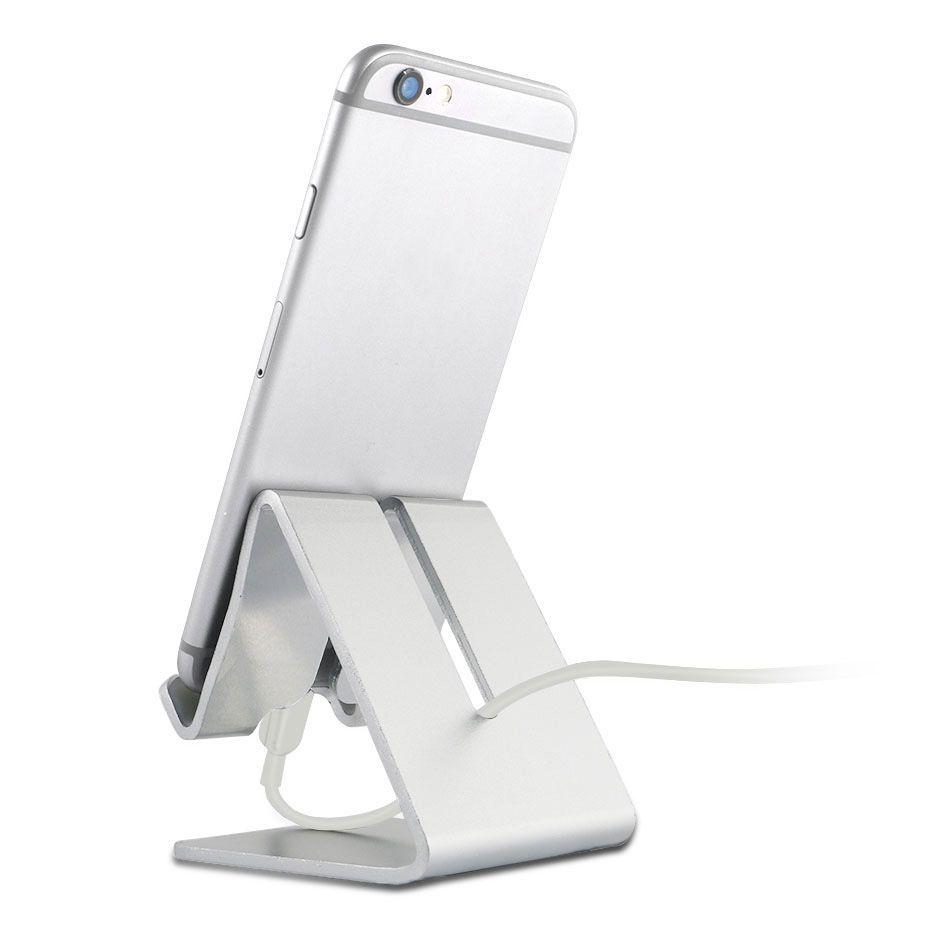 YeeSite universel en aluminium métal téléphone portable tablette support de bureau support pour iPhone 8 7 7Plus 6s 6 5s 5 téléphone portable pour Kindle Ebook