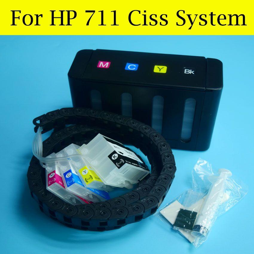 1 Satz HP711 CISS Schlauch Kette CISS System Für HP 711 tinte Für HP Designjet T120 T520 Drucker