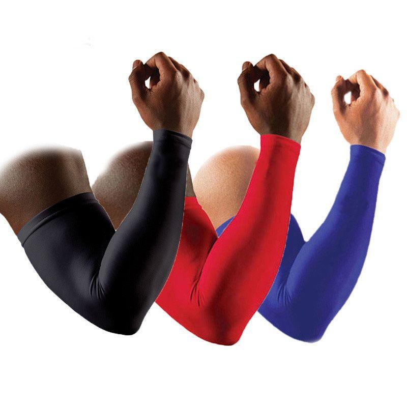 1 пара Высокое качество Баскетбол Brace Поддержка удлиняют руки рукава гвардии Спортивная безопасность защиты налокотники Митенки для женщин