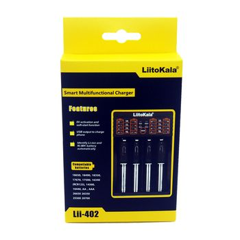 Новый liitokala lii-402 18650 Батарея Зарядное устройство для 26650 16340 RCR123 14500 lifepo4 1.2 В Ni-MH Ni-Cd Rechareable Батарея lii402