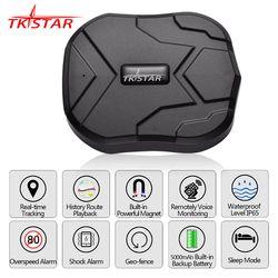 GPS del coche perseguidor tkstar tk905 5000 mAh 90 días de espera 2G vehículo Tracker GPS localizador impermeable imán voz Monitores aplicaciones web gratis