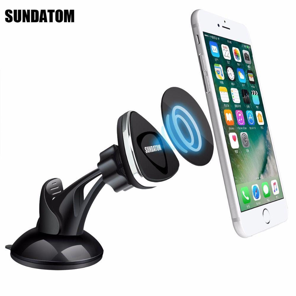 Support magnétique universel pour tableau de bord de voiture support pour téléphone Mobile Kit de voiture collant pour iPhone 7 Samsung 8 Plus Smartphone