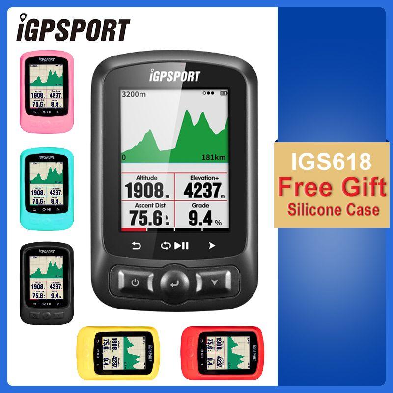 IGPSPORT Cycling ANT+ GPS IGS618 Bike Bicycle Bluetooth Wireless Stopwatch Speedometer Waterproof IPX7 Bike Speedometer Computer