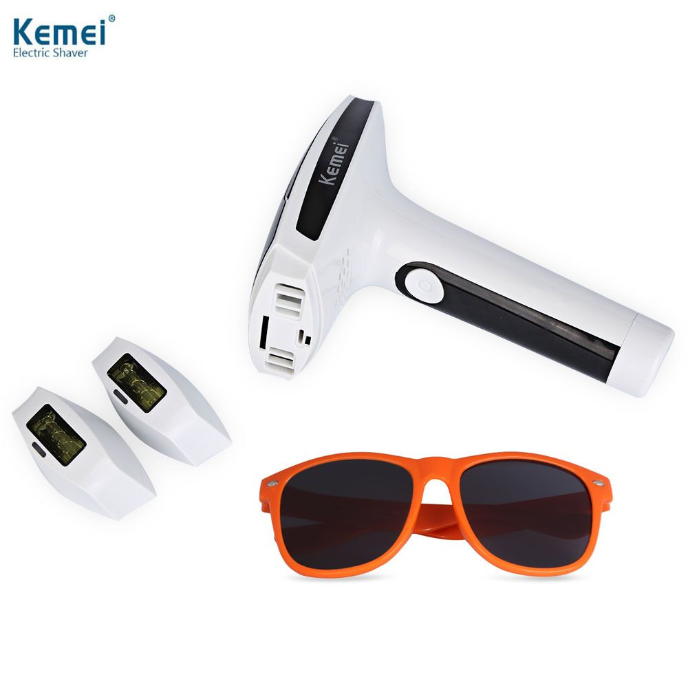 Kemei Epilator Lady Photon Laser Facial Hair Removal Depilatory Shaver Razor Device Face Skin Care Tools For Female Women