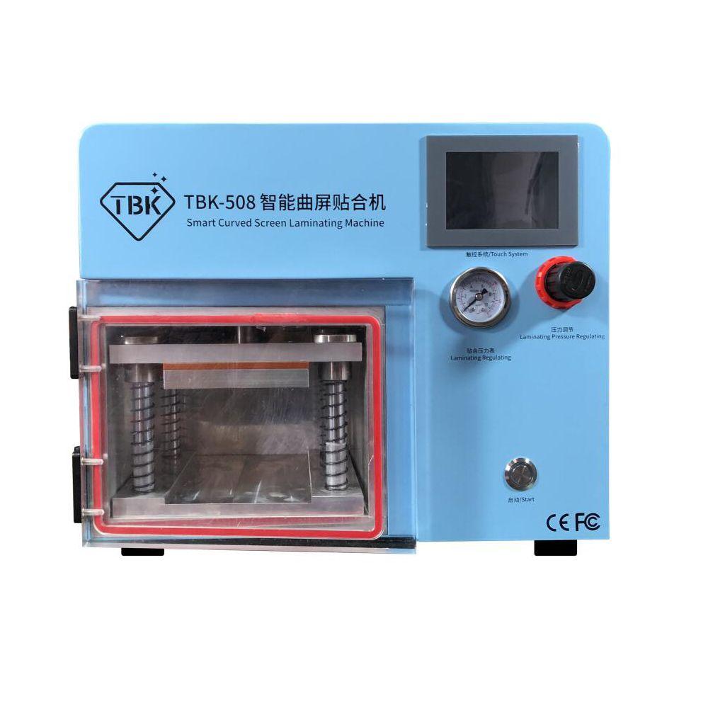 TBK-508 Gebogene Bildschirm Laminieren und Debubble Maschine LCD Rand Laminieren Maschinen Für samcung S6 S7 S8 rand bildschirm mit formen