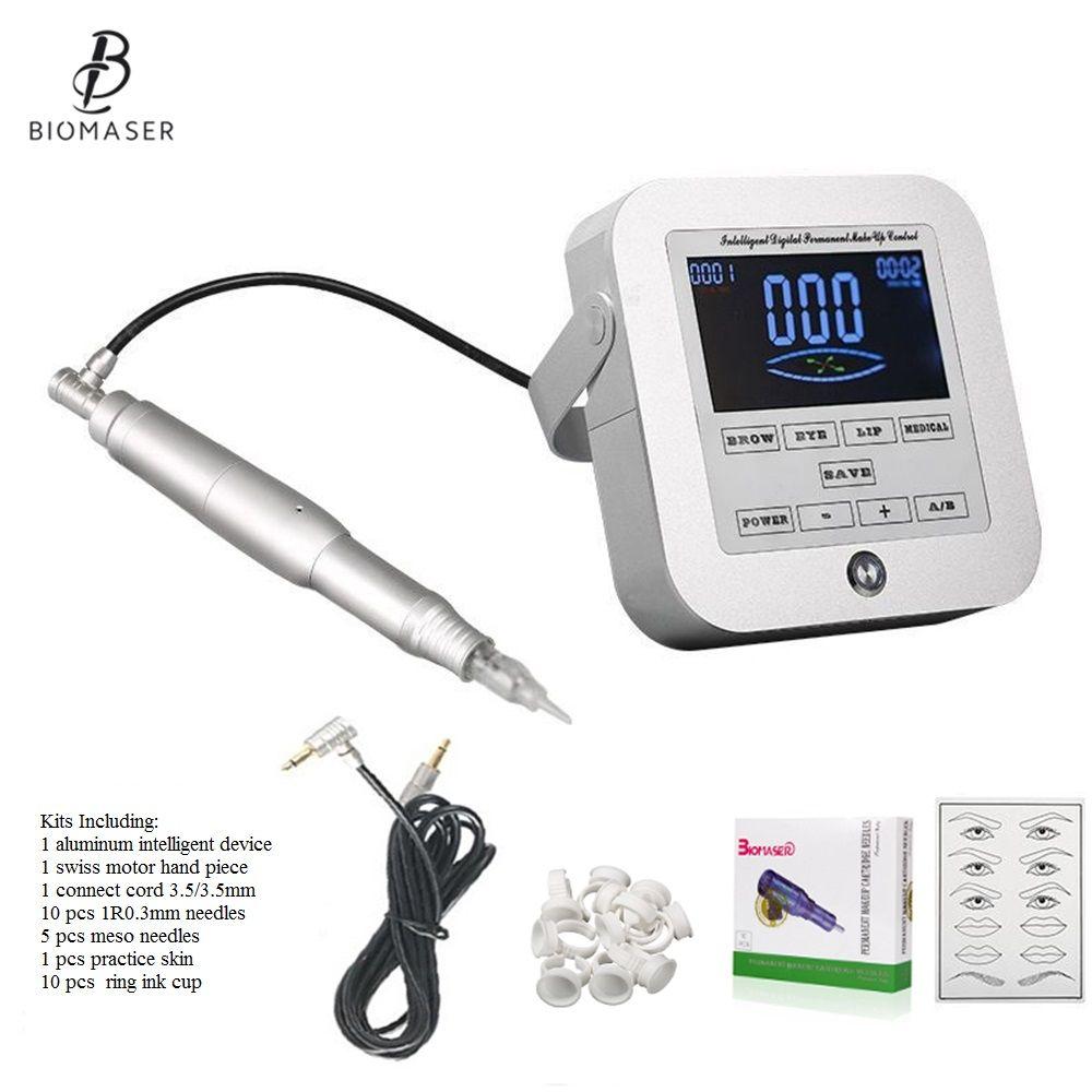Biomaser Neue Permanent Make-Up Maschine Augenbraue Tattoo Professionelle Digitale Gerät Maschine Augenbraue Lip Stift Maschine Sets CTD003-2