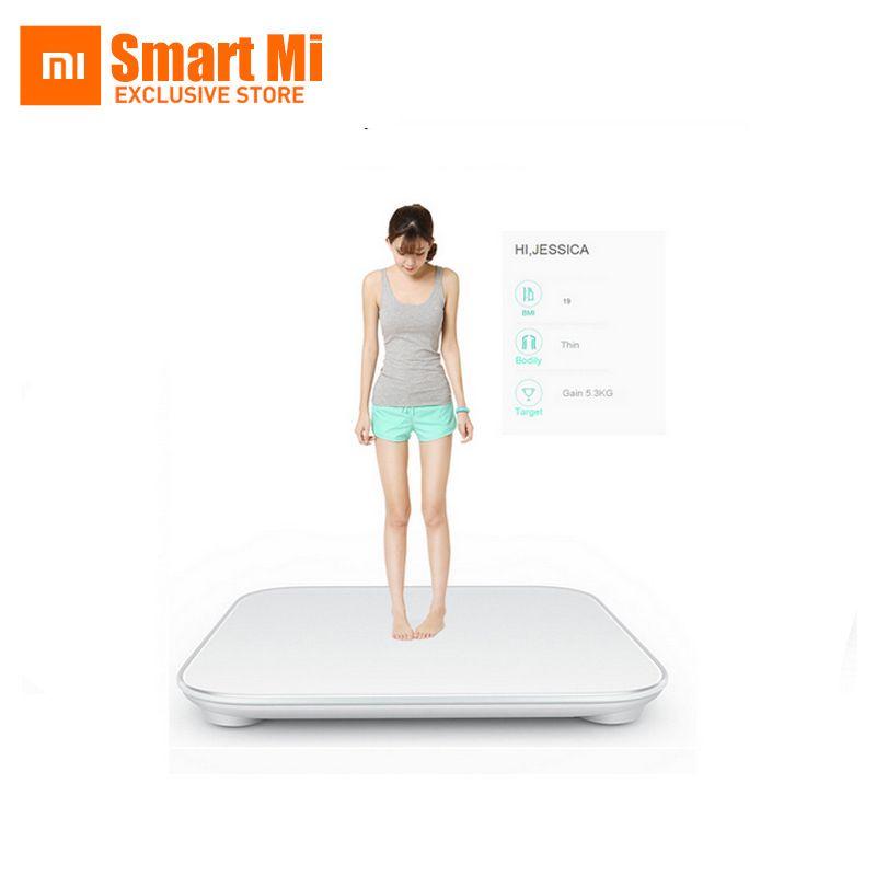 D'origine livraison gratuite Xiaomi smart balances de ménage D'origine mi poids balance Numérique Pour Android 4.4 iOS7.0 Ci-dessus Blanc