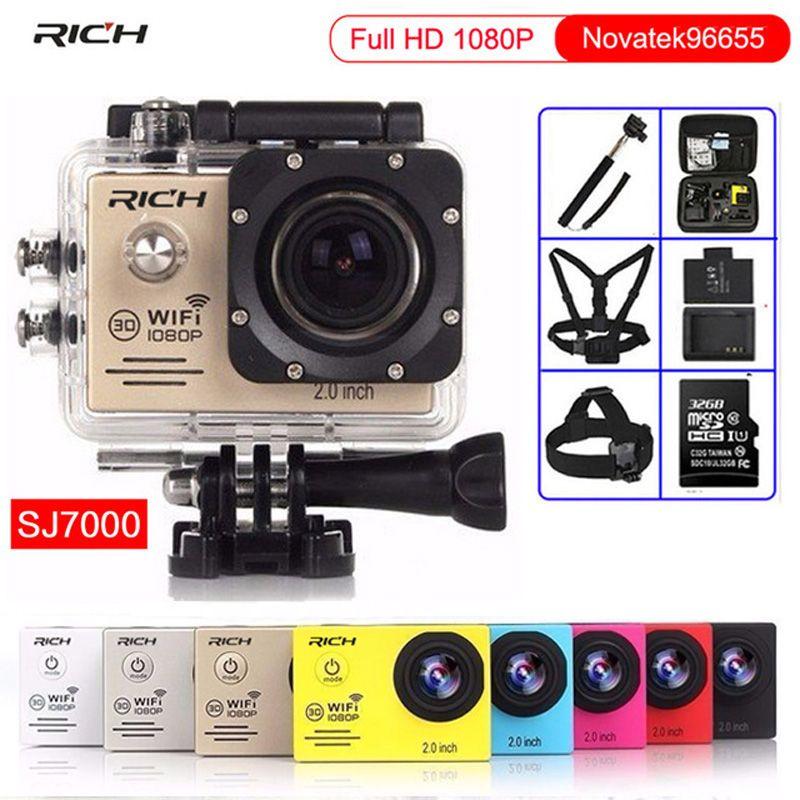 Cámara de acción Full HD 1080 P 30FPS NTK96655 Wifi 170D Lente Ir pro estilo de Buceo 30 M impermeable Deportes cámara