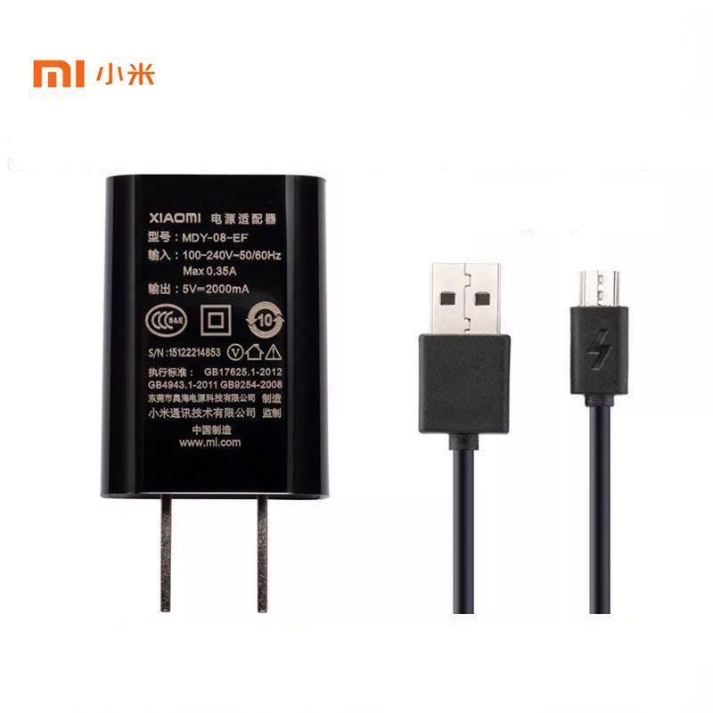 D'origine Mi Chargeur De Voyage 5 v 2A Chargeurs Adaptateur Universa Micro Câble USB pour Xiaomi Xiaomi Mi/2/ 3/4 RedMi 4X 4A Note 2/Note 5 4