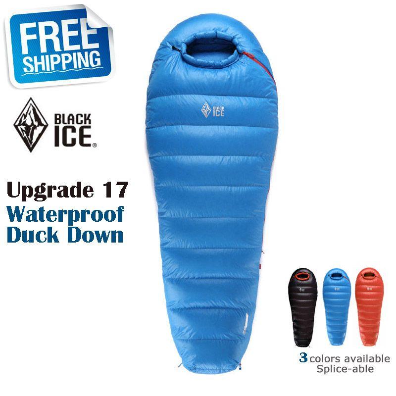 Blackice Upgrade B1500 Verdickung ultra-light Winter Außenmumienform Wasserdichte Daunenschlafsack mit Tragetasche