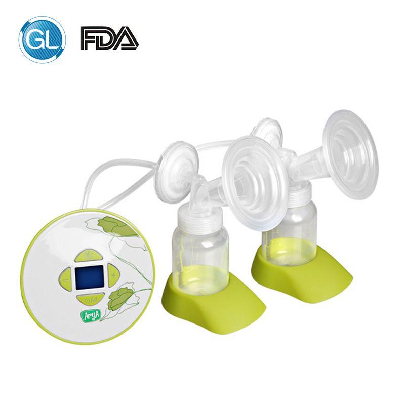 GL Doppel Elektrische Brust Pumpe Silikon Baby Fütterung Milch Pumpe mit Geschenk 30 stücke Milch Lagerung Tasche + 1 Fütterung bh + 6 stücke Pflege Pads