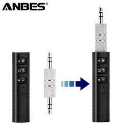 ANBES Auto Bluetooth AUX 3,5mm Jack Bluetooth Receiver Freisprechen Anruf Bluetooth Adapter Auto Sender Auto Musik Empfänger