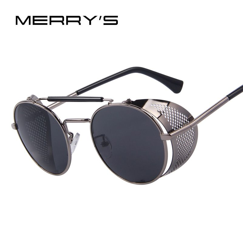 Merry's Для женщин ретро Дизайн круглый стимпанк Защита от солнца очки Óculos De Sol UV400