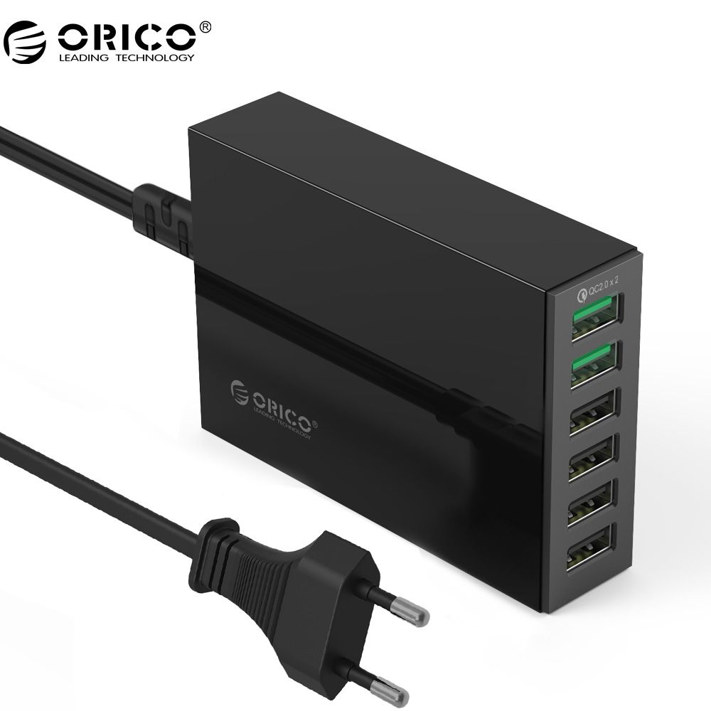 ORICO QSL 2 Ports QC 2.0 Quick Charger With 4 Ports 5V2.4A 50W Max Output Mobile Phone USB Charger