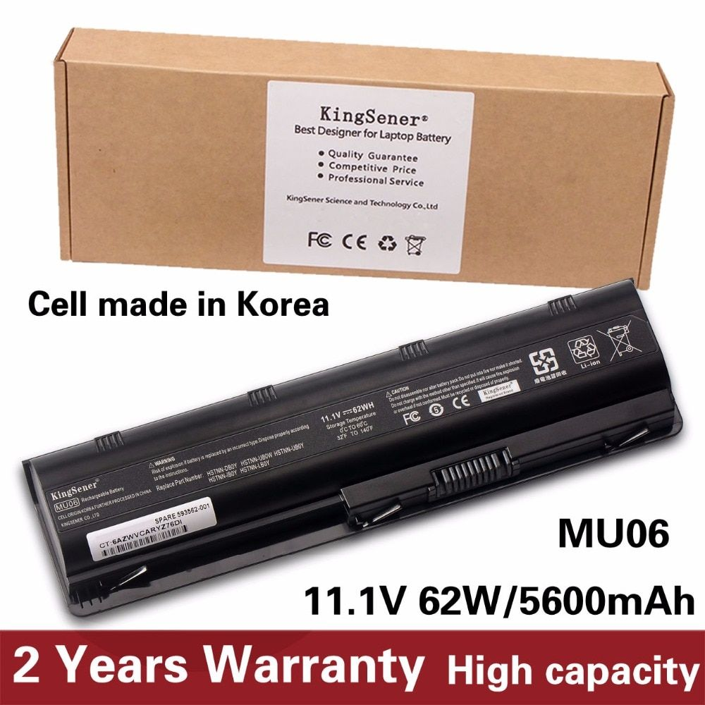 Korea Cell New Laptop Battery for HP Pavilion G4 G6 G7 G32 G42 G56 G62 G72 CQ32 CQ42 CQ43 CQ62 CQ56 CQ72 DM4 MU06 593553-001