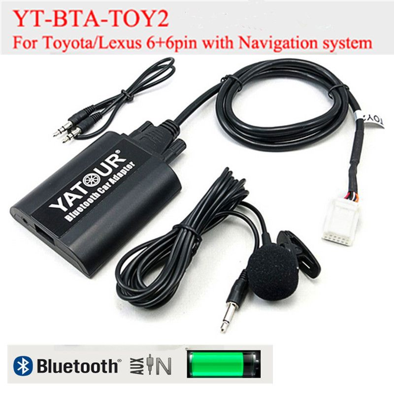 Yatour BTA Car Bluetooth Adapter Kit for Lexus Toyota 6+6pin radioss GX470 LS460 LX570 RX300 RX300 RX330 RX350 RX400H SC430 bt