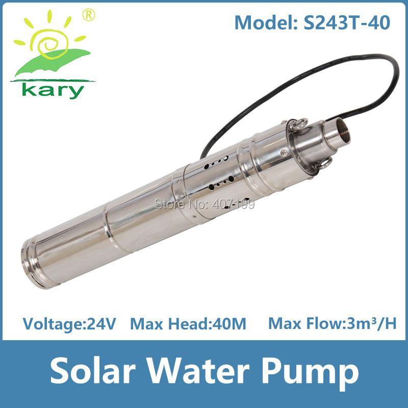 Dc 24 v 0.5hp lift 40 mt 3000L/H solarbetriebene wasserpumpe für landwirtschaftliche bewässerung durch Kary