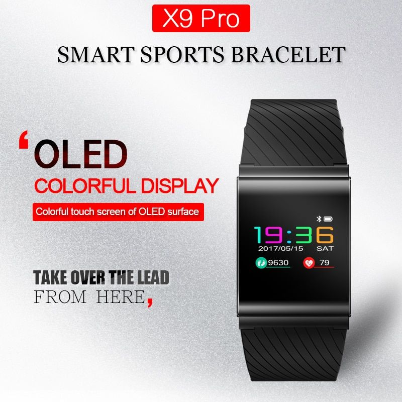 X9 Pro Colorful Screen Smart Wristband Sport Bracelet Heart Rate Tracker Passometer Blood Pressure watch PK xiaomi mi Band 2