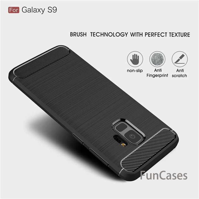 For Samsung Galaxy S6 Edge S7 S8 S9 plus Note 8 Carbon Fiber Soft TPU Case For A3 A5 A7 2017 J3 J5 J7 2016 J4 J6 J8 2018 A6 Plus