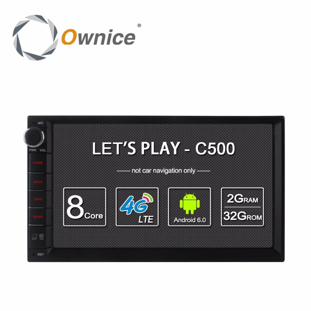 Ownice C500 Android 6.0 Car GPS Universal Stereo Radio 2 Din Player 7
