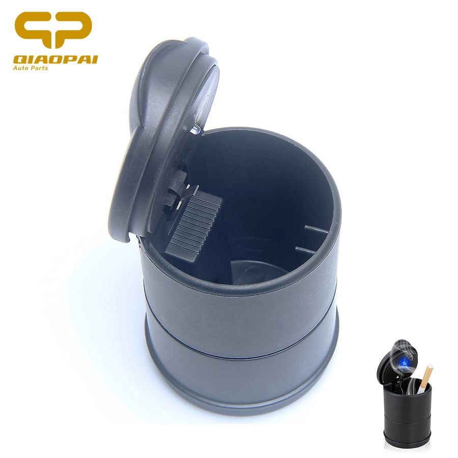 Universal Lighted Car Ashtray With Lids Portable Auto Cigarette Smoke  Blue LED Ashtray Car Auto Accessories  FOR Uaz Patriot