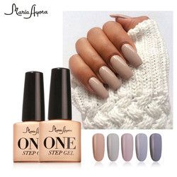 Maria Ayora One Step Nail Gel 7 ml de Longue durée LED UV Lampe Nail Gel Polish Laque Vernis pas De Base Top Coat Nail Art