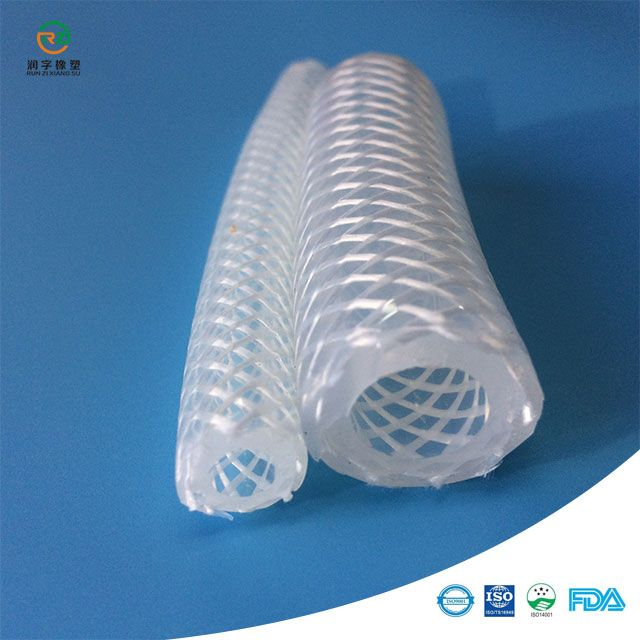 1 mètre de qualité alimentaire médicale tressé tuyau en caoutchouc renforcé tube en caoutchouc de silicone haute température résister caoutchouc vapeur pression tuyau