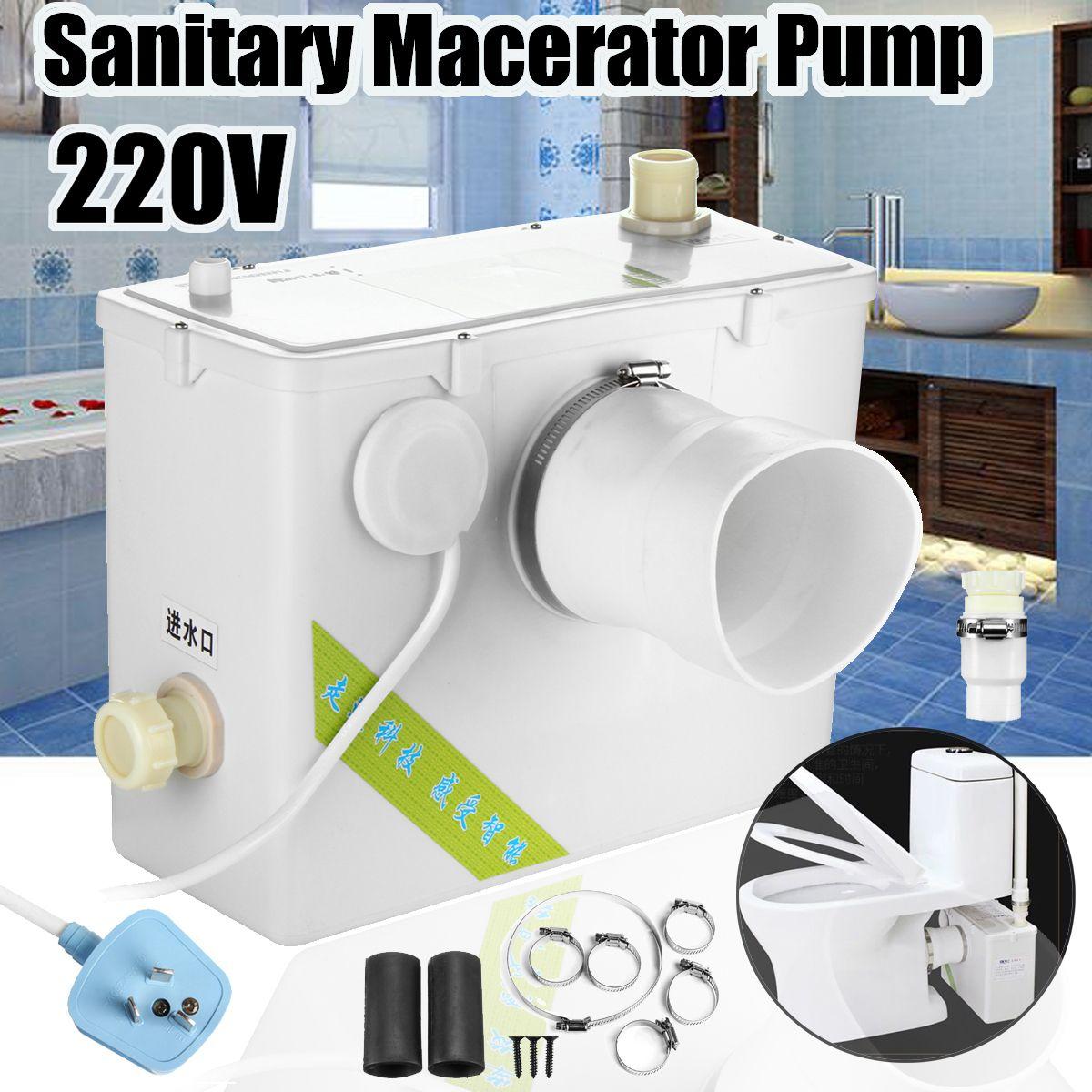 2 Style 400W Sanitary Macerator Pump Auto Disposal Crush Waste Water Bath Toilet Sink