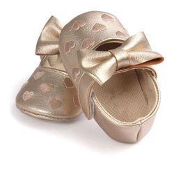 Pu cuero recién nacido niña mocasines Zapatos mariposa-Nudo corazón impreso Fringe Soft soled calzado antideslizante Patucos