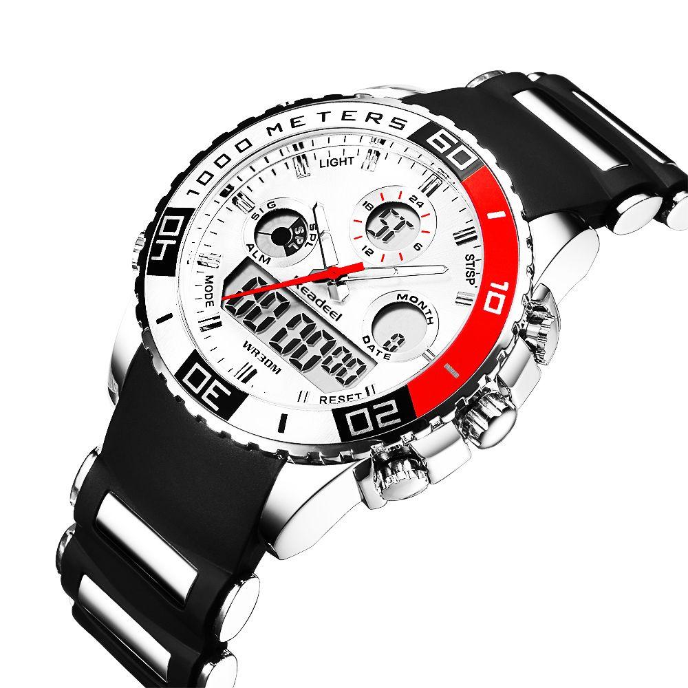 Top Brand Luxury Watches Men Rubber LED Digital Men's Quartz Watch Man <font><b>Sports</b></font> Army Military Wrist Watch erkek kol saati