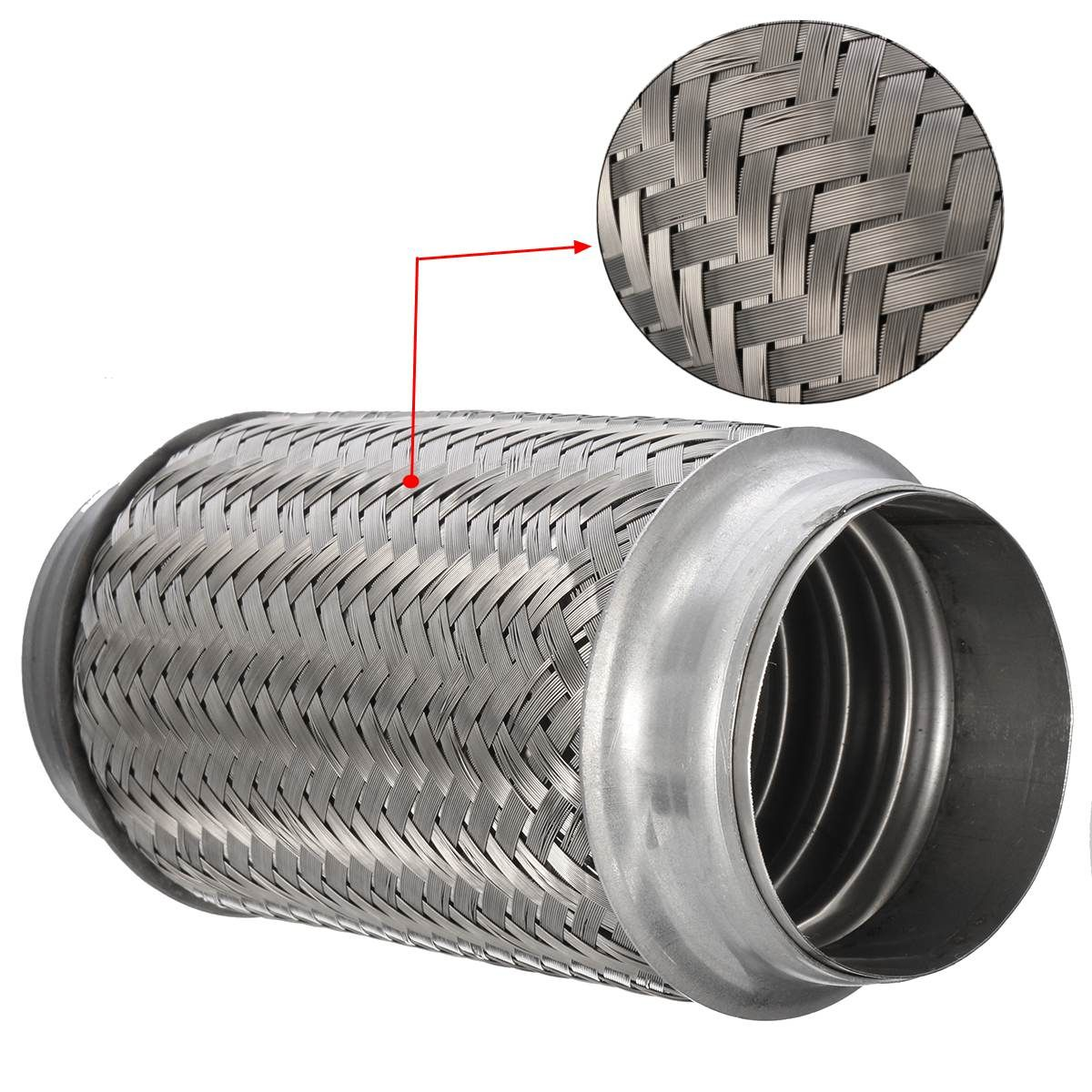 Exhaust Flex Pipe Stainless Steel Double Braid 3