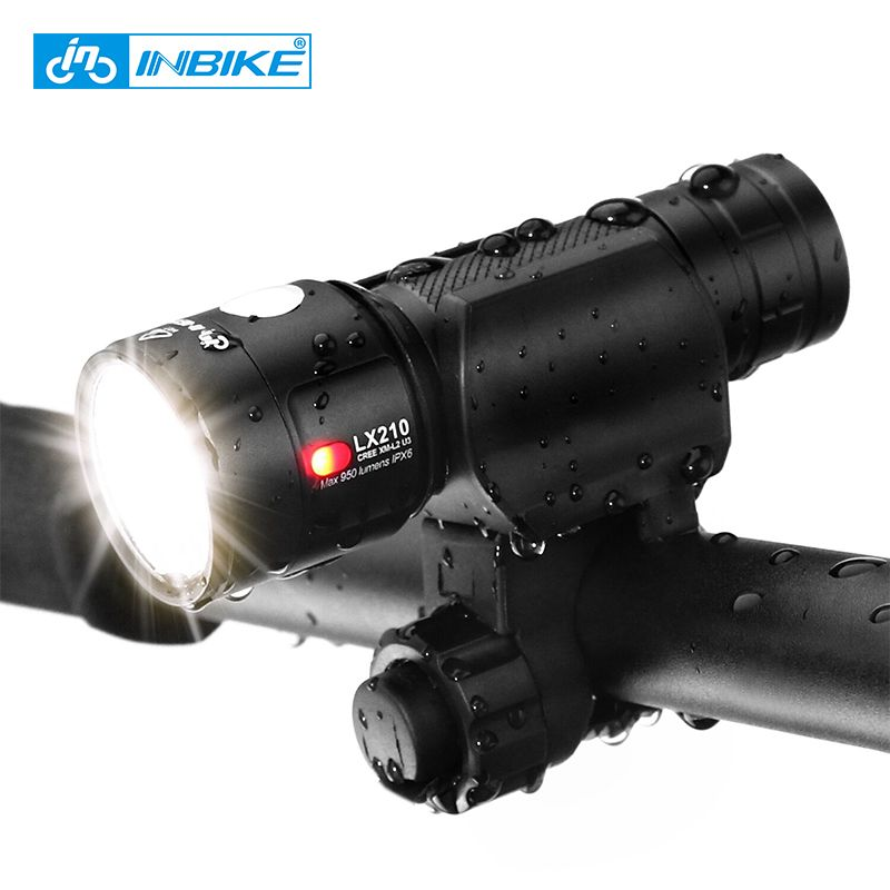 INBIKE Bike Light Ultra-Bright Ultralight Bicycle Front LED Flashlight Lamp XM-L2-U3 Wick USB Rechargeable Torch 18650 Battery