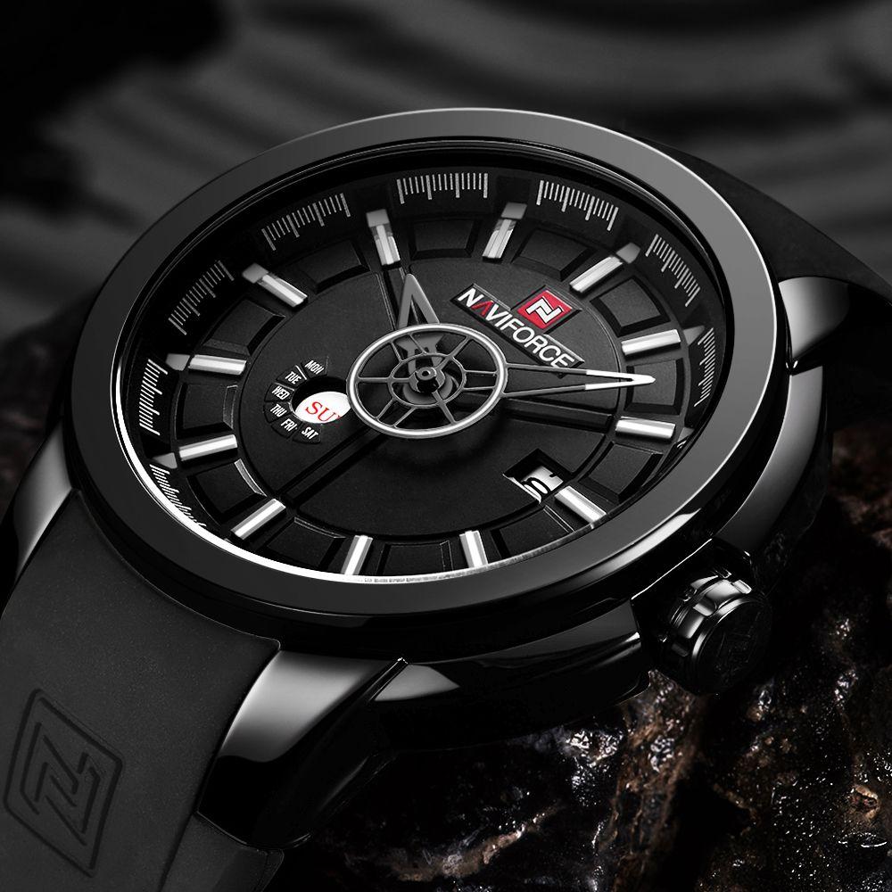 NAVIFORCE Top Luxury Brand Watches Men Fashion Quartz Watch Sports Date Rubber Waterproof Male Wristwatch Relogio Masculino