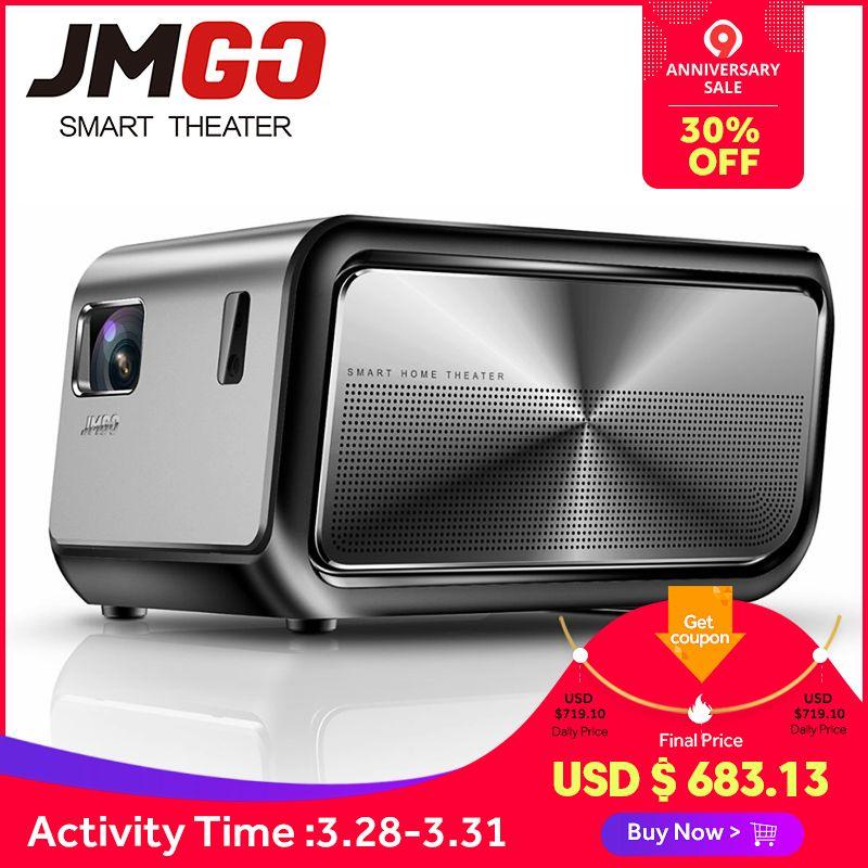 JMGO J6S, Full HD Android Projektor, 1920x1080 p, 1100 ANSI Lumen, set in WIFI, HIFI Bluetooth Lautsprecher. Smart Beamer, Unterstützung 4 K