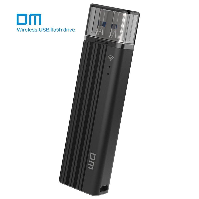 Sans fil USB3.0 Flash Drive DM WFD016 32 GB WIFI USB Pour iPhone/Android/PC Smart Pen Drive Mémoire Usb Bâton Multijoueur Avec Shar