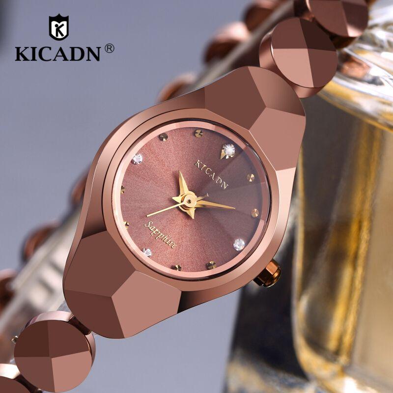 KICADN Top Brand Ladies Luxury Watches Fashion Quartz Watch Women's Anti-scratch Bracelet Steel Wrist Watches Clock Relojs Mujer