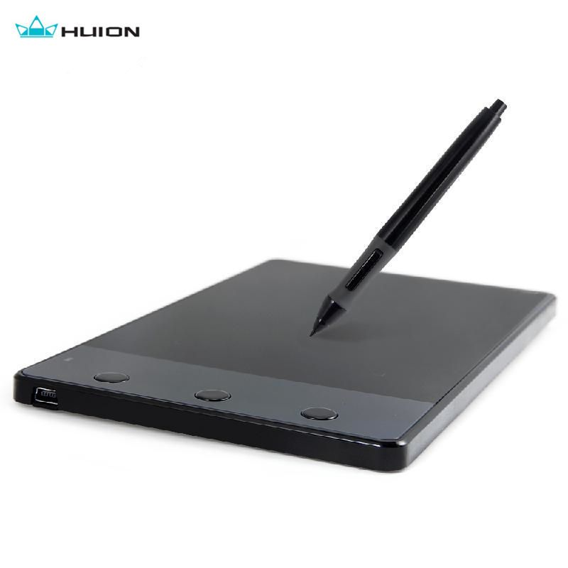Huion 420 4-Inch Digital Tablets Writing Art Drawing Graphics Tablet <font><b>Board</b></font> Electromagnetic 4000LPI Levels 0.35W+ Digital Pen