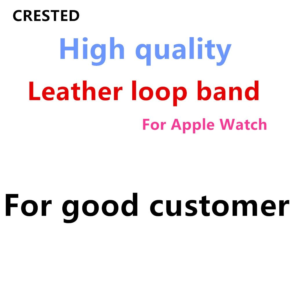 Leather loop For Apple Watch band apple watch 4 3 44mm/42mm iWatch band 40mm/38mm Magnetic Closure bracelet