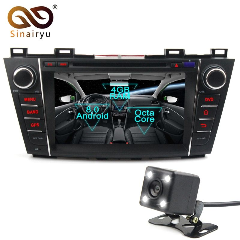 Sinairyu Android 8.0 Octa Core Car DVD Player for Mazda 5 Premacy 2007-2013 GPS Navigation Multimedia Radio Stereo Head Unit