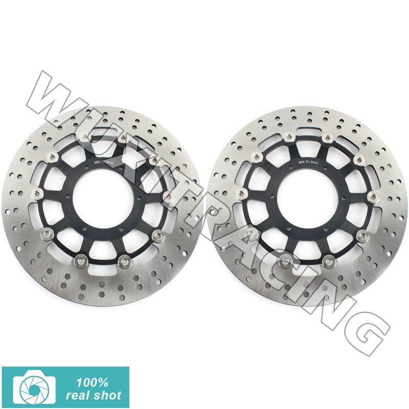01 02 03 04 05 06 07 Round Front Brake Discs Rotors fit for Honda CBR 1000 RR CBR1000RR CBR1000 RR 06 07 VTR SP1 SP2 RC51 1000