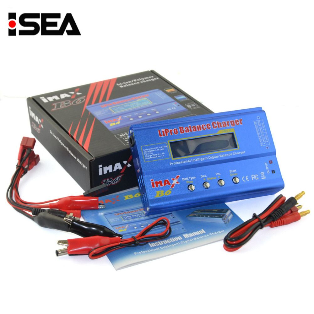 Hot Selling HTRC iMAX B6 80W 6A Battery <font><b>Charger</b></font> Lipo NiMh Li-ion Ni-Cd Digital RC Balance <font><b>Charger</b></font> Discharger + 15V 6A Adapter