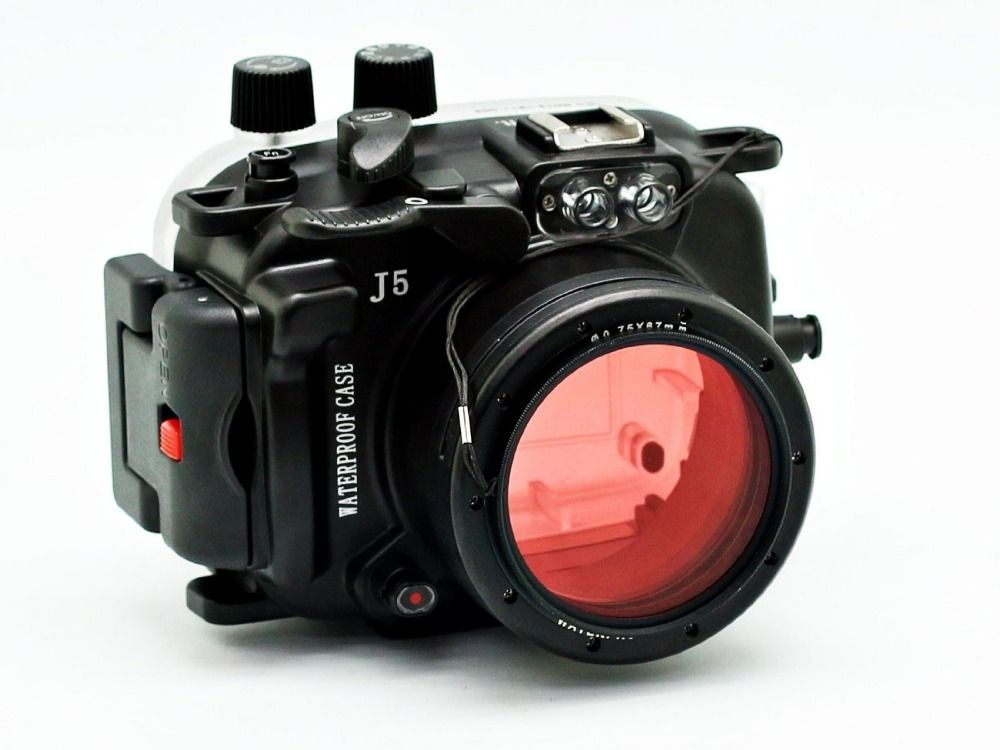 40M/130ft Diving Camera Underwater Housing case /Waterproof Shell Case For Nikon J5 (10mm) (10-30mm) Lens
